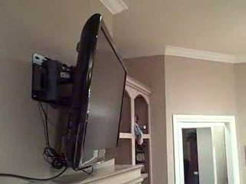 Samsung Motorized Tv Wall Mount In Action Youtube