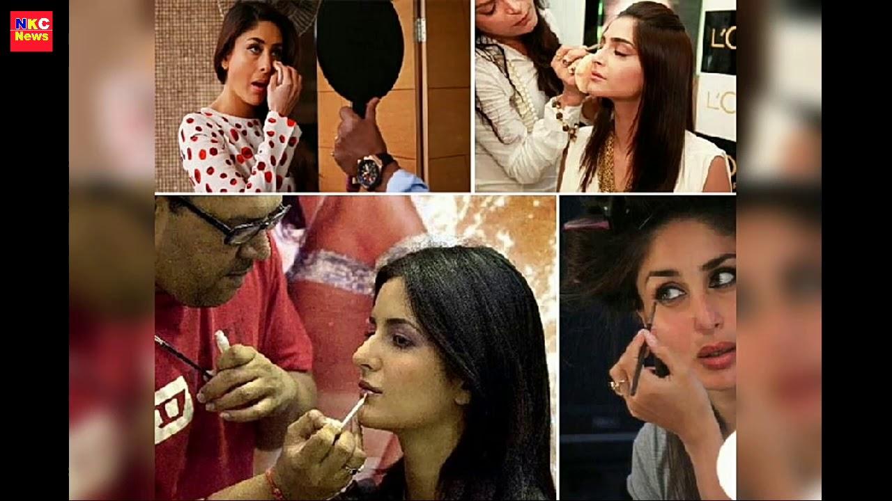 Bollywood Actress HOT in Makeup Room  Makeup Room Actress