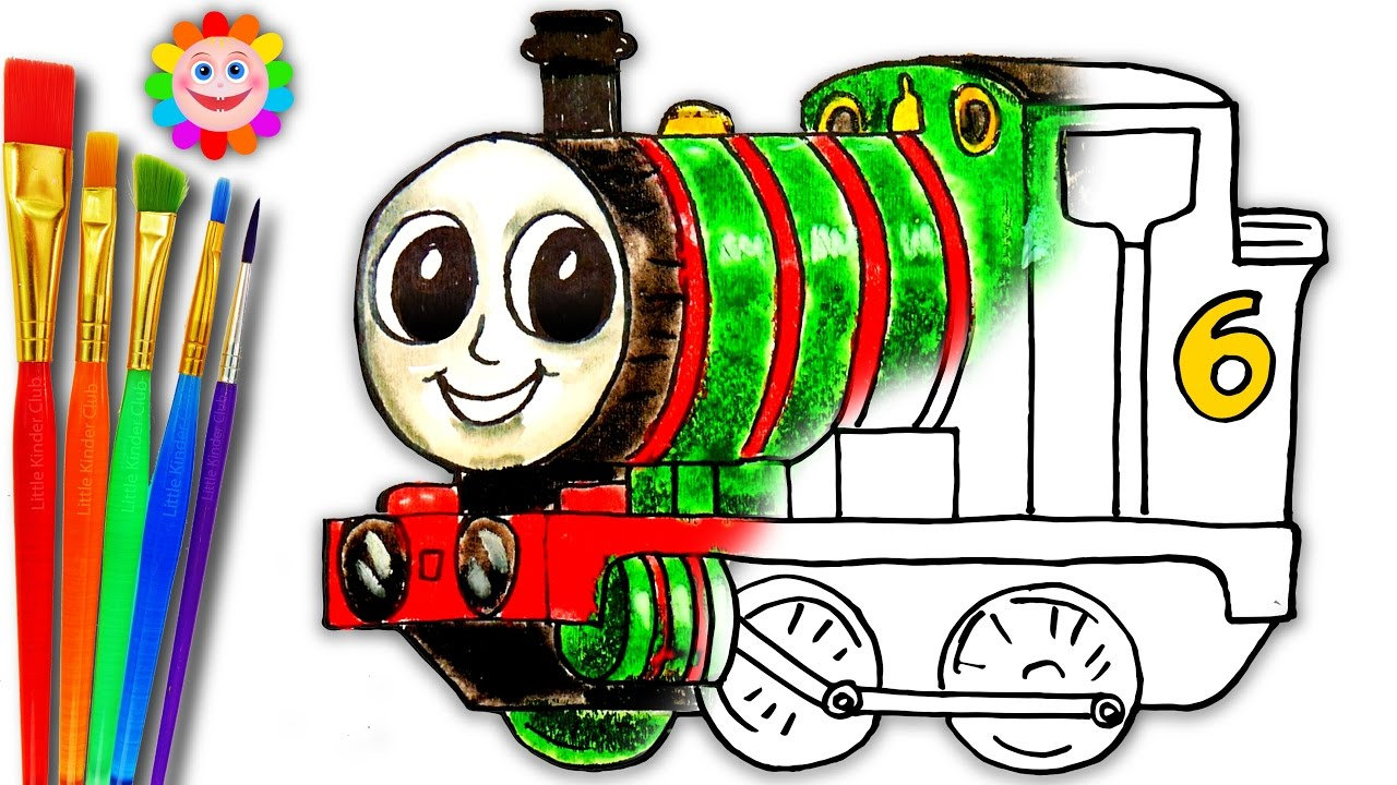 coloring thomas and friends how to draw percy the small tank
