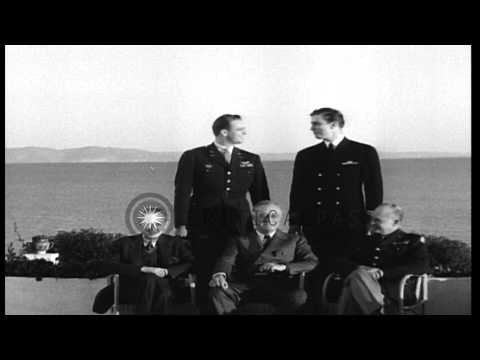 President Franklin Roosevelt with his sons, Franklin Delano Roosevelt, Junior and...HD Stock Footage