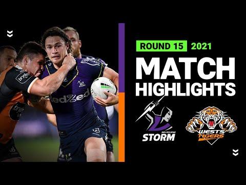 Download Storm v Wests Tigers Match Highlights | Round 15, 2021 | Telstra Premiership | NRL