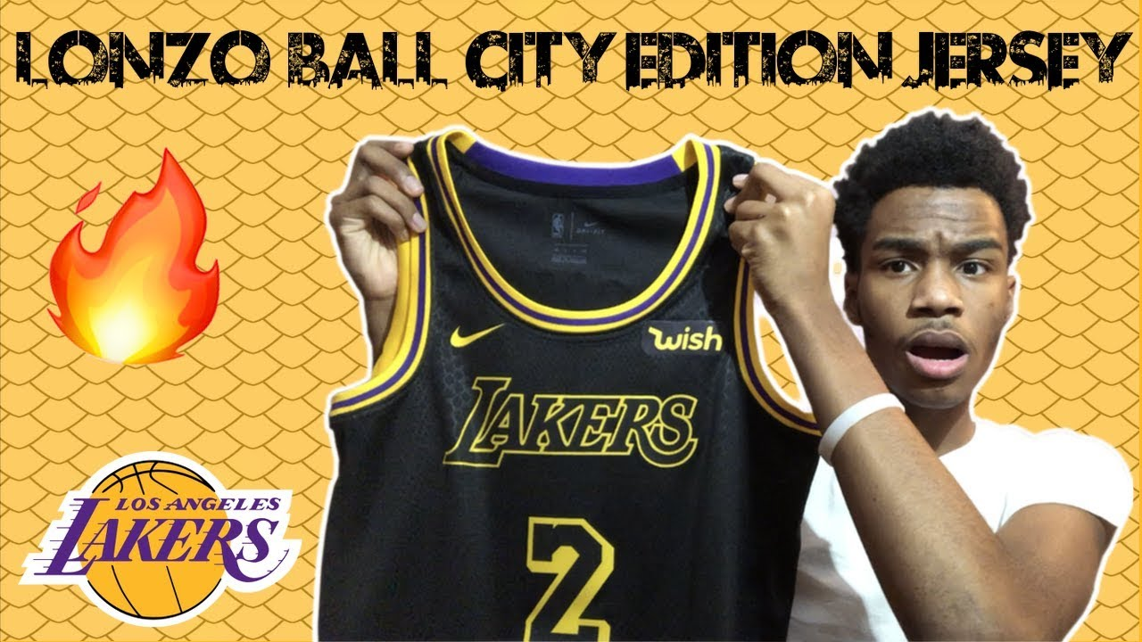 best sneakers 5fe7b df81b Lonzo Ball Nike City Edition Swingman Lakers Jersey Unboxing & Review ! !