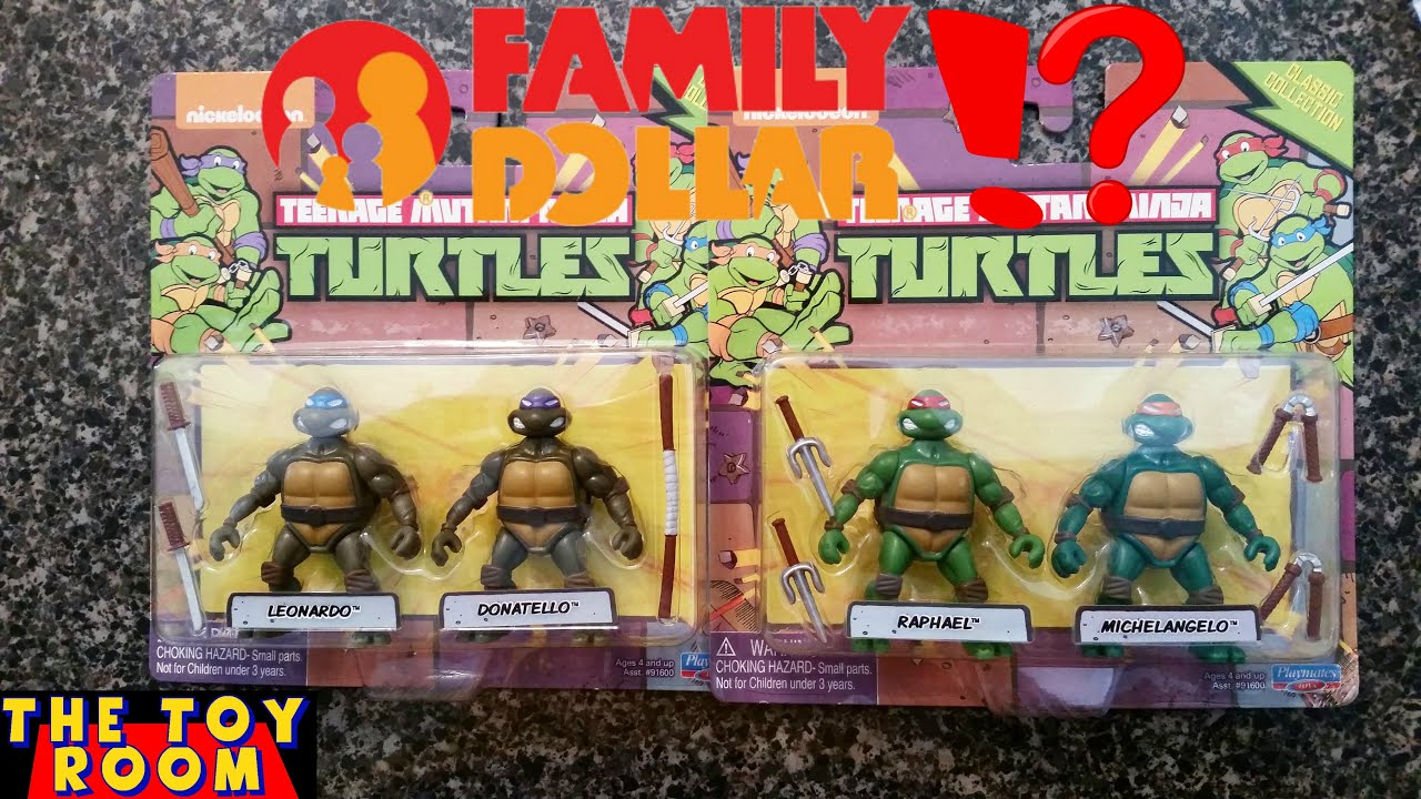 Tmnt Classic Collection Family Dollar