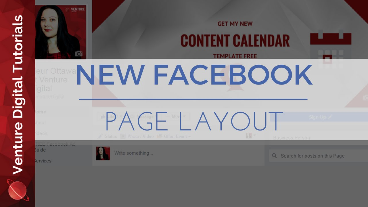 2016 new business page layout for facebook how to youtube