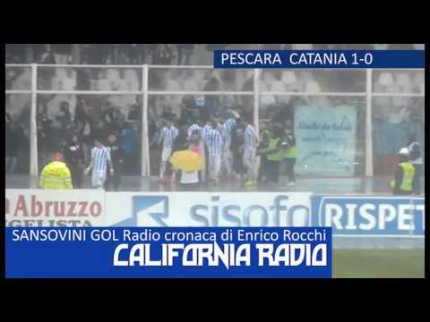 SANSOVINI GOL !!! Enrico Rocchi - radiocronaca - Radio California