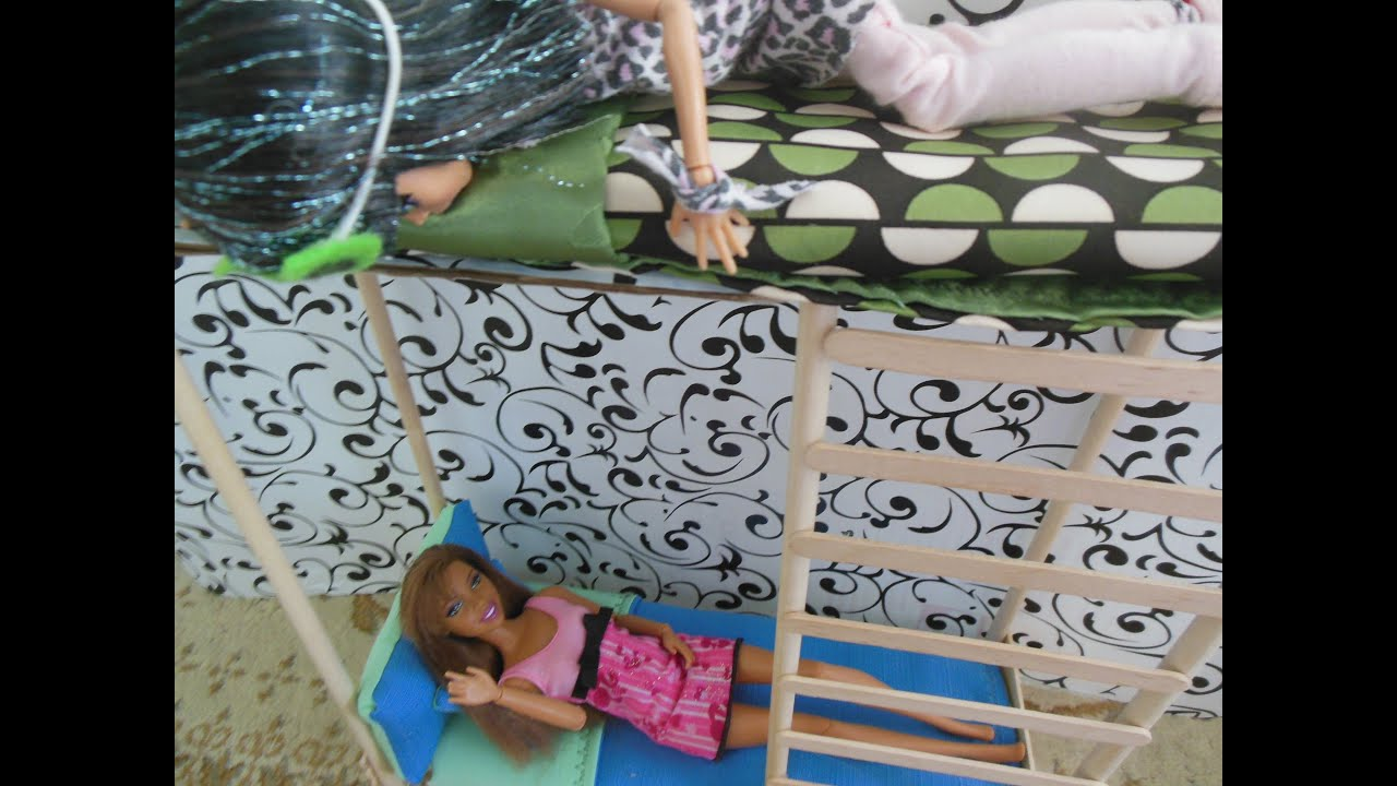 How To Make A Doll Bunk Bed Mattress Youtube