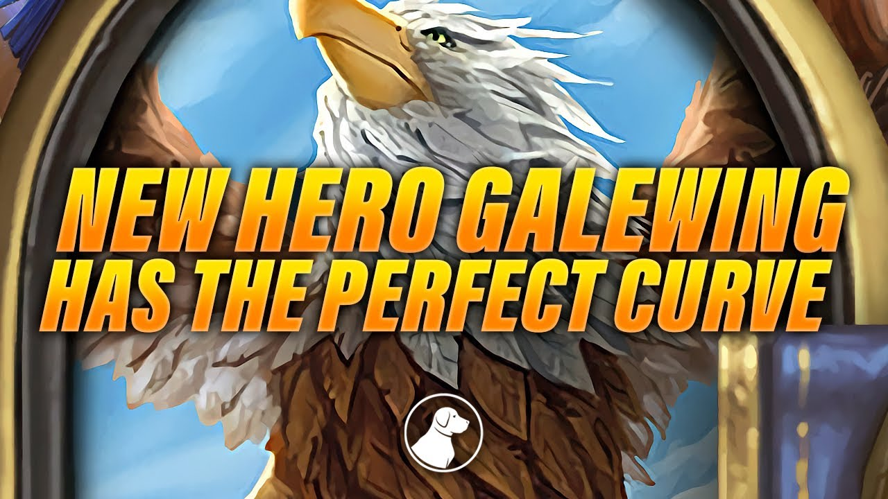 New Hero Galewing Lets you Have the Perfect Curve | Dogdog Hearthstone Battlegrounds