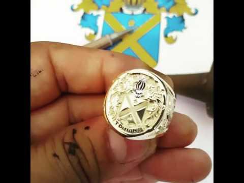 Anel Lord Luxury Imperador Brasão Familia 💎TOMBINI 👑 Jorge Uquillas Gravador