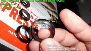 Cincin Ring Kayu Hitam EBONI POLENG Model Polos 1
