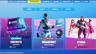 NEW *FREE* BREAKPOINT SKIN & VBUCK REWARDS! (Fortnite Neonlines Challenge Rewards)