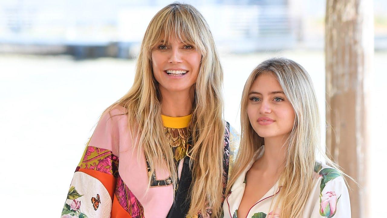 Heidi Klum is all smiles as teen daughter Leni struts down Dolce ...