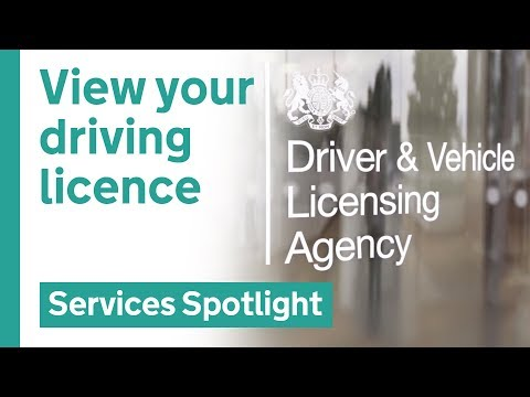 View your driving licence online
