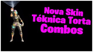 SHOWING THE * NEW * SKIN TÉKNICA PIE & COMBOS | FORTNITE