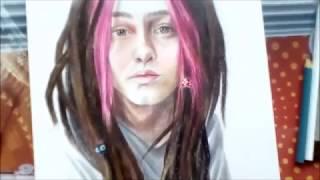 Портрет цветными карандашами by Saint Octopus