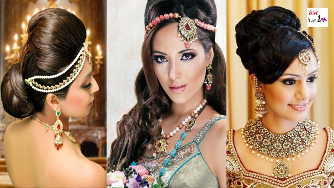indian bridal hairstyles low bun image for fashion | girl fashion