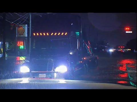 Raw: Heavy Rain Floods Houston-Area Streets