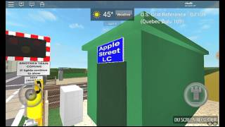 Apple Street Level Crossing (ROBLOX) *Tour and Malfunction*