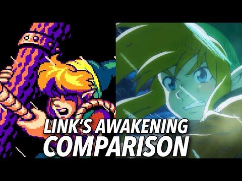 The Legend of Zelda: Link's Awakening Graphics Comparison
