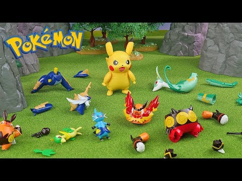 Pokemon Assembly Model Kit Generation 5 With Pikachu   Compilation   Toys For Kids
