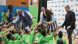 Dolph Ziggler, Nia Jax and Titus O'Neil host Be a STAR rally before SummerSlam 2018