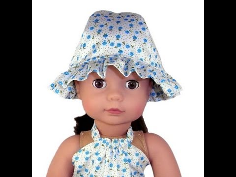 American Girl Doll Clothes Patterns Frilled Hat Youtube