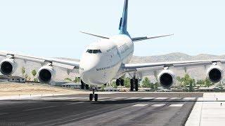 747 Fatal Landing On The Runway, Crash El Paso Airport | X-Plane 11