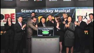 Score: A Hockey Musical opens Toronto Stock Exchange, September 7, 2010.
