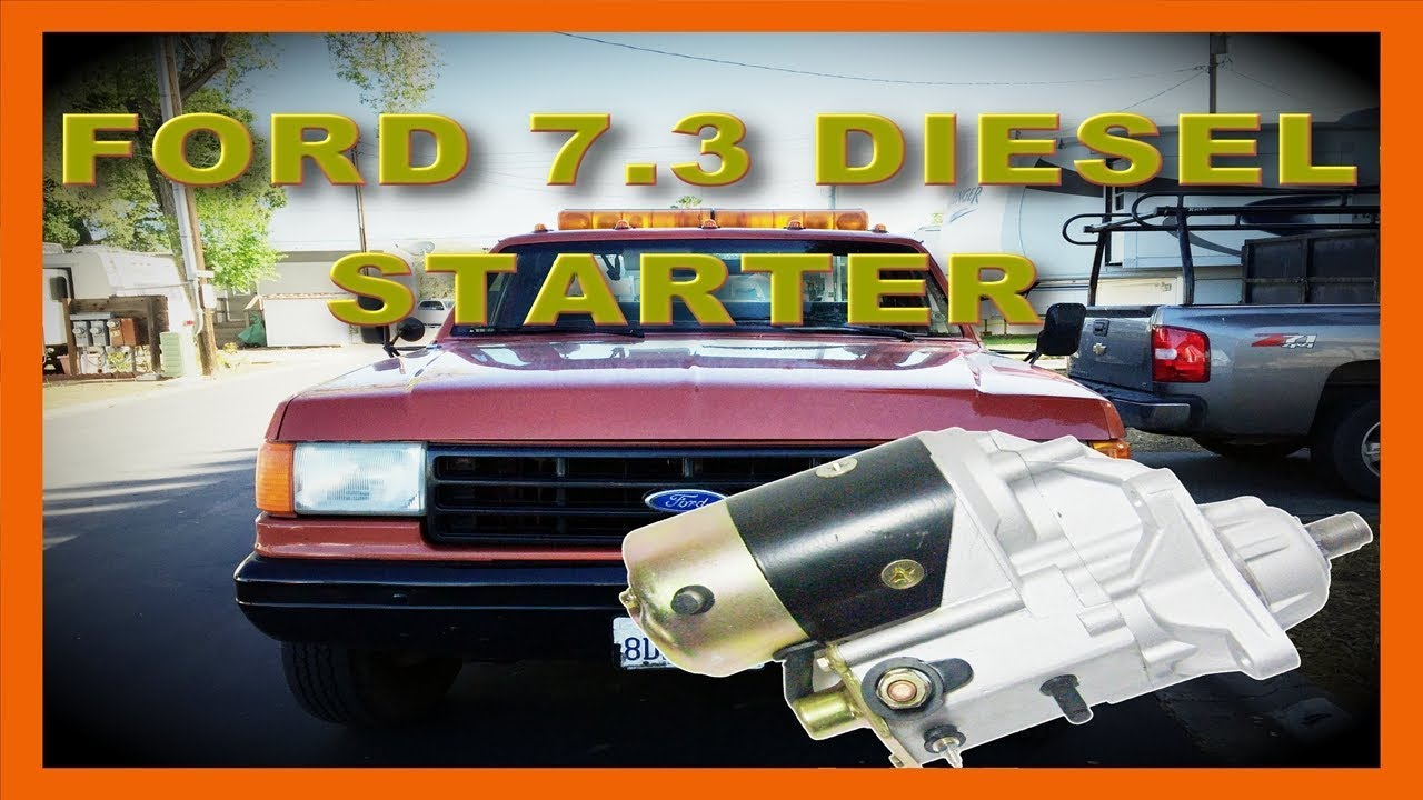 Ford F Superduty  Sel Starter Motor Replacement