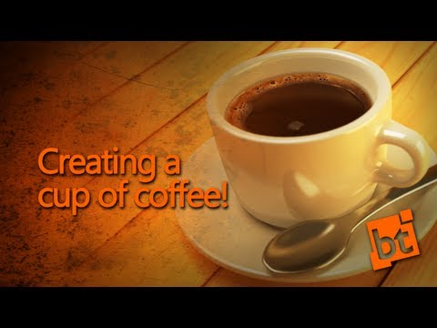 How to create a cup of coffee in Blender!