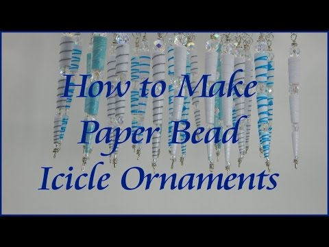 How to Make Icicle Ornaments