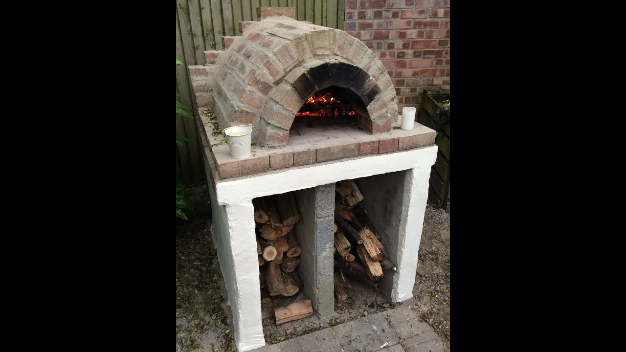 Homemade easy outdoor pizza oven diy youtube for How much does it cost to build an outdoor kitchen