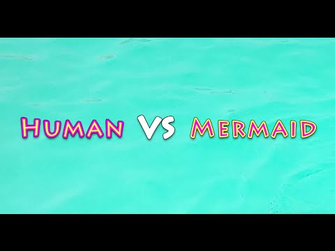 #Fin Fun Mermaid VS Human Swimming Challenge تحدي السباحة
