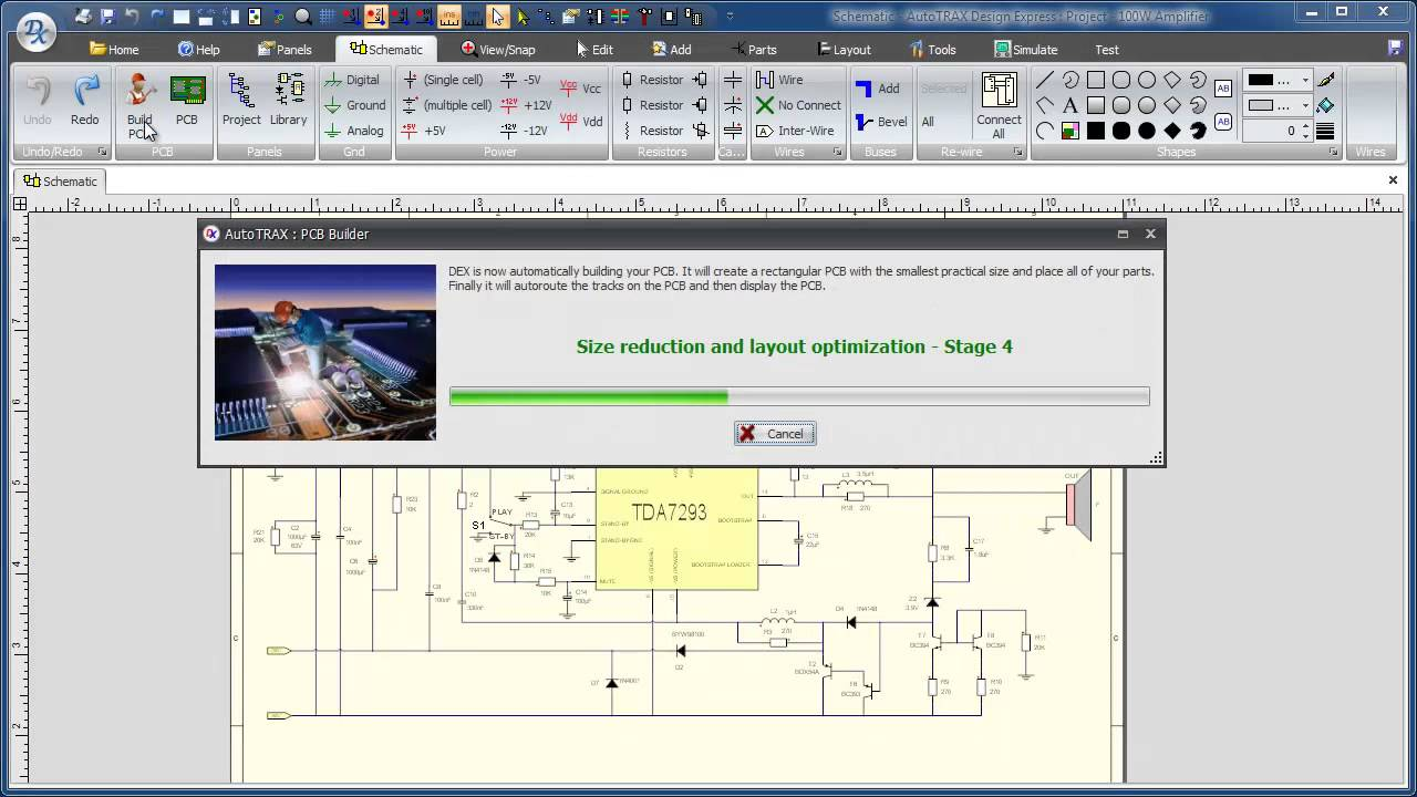 One Click PCB board design, layout and auto-routing - YouTube