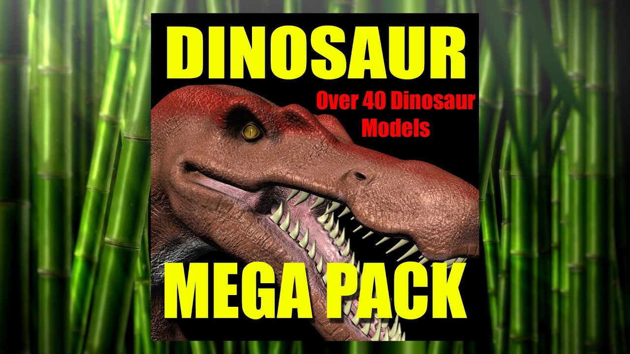 Dinosaur 3d Model Collection Make Your Own Jurassic World