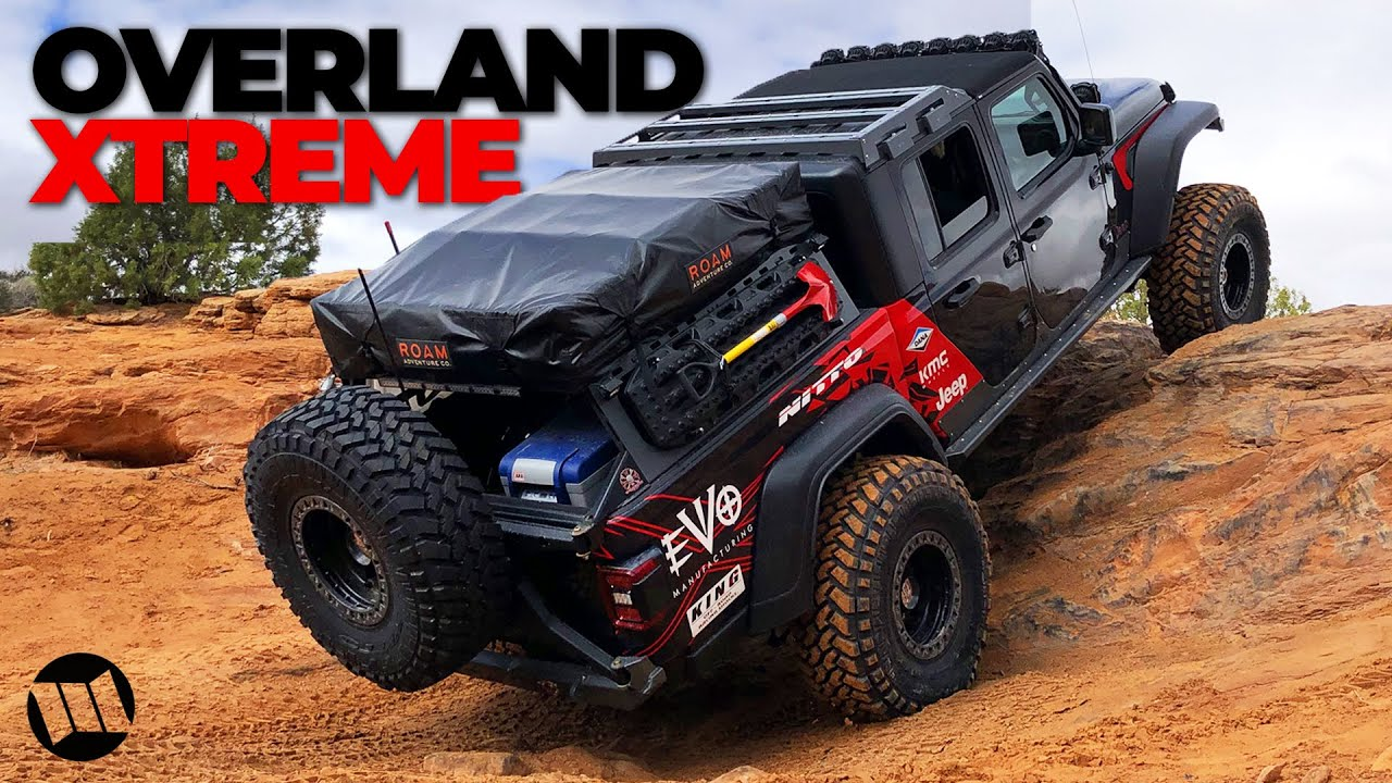 Build A Jeep >> Jeep Gladiator Truck Overlander on 40 Inch Tires by EVO Off Road Rock Crawling Steel Bender in ...