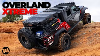 Jeep Gladiator Truck Overlander on 40 Inch Tires by EVO Off Road Rock Crawling Steel Bender in Moab