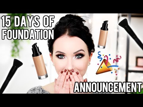 15 Days of Foundation ANNOUNCEMENT!!