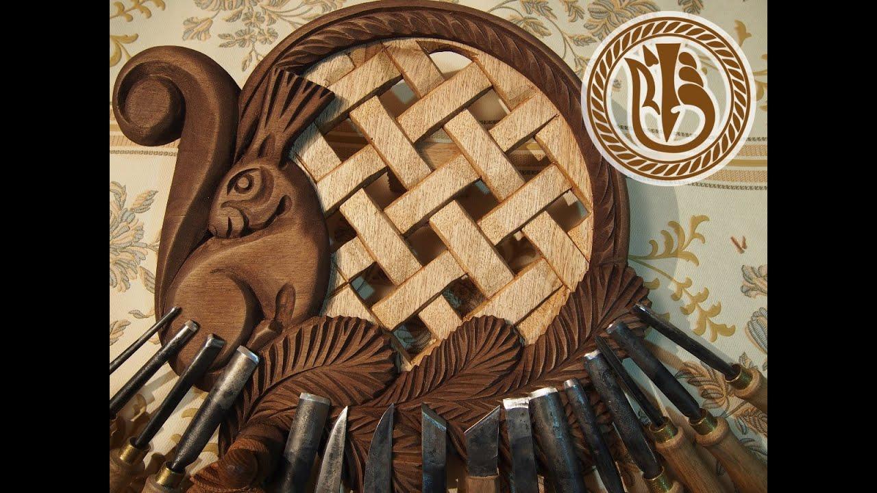 Woodcarving. АК16У и орех - вырезаем без помех!
