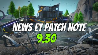 FORTNITE BR, NEWS, LEAKS ET PATCH NOTE 9.30 !