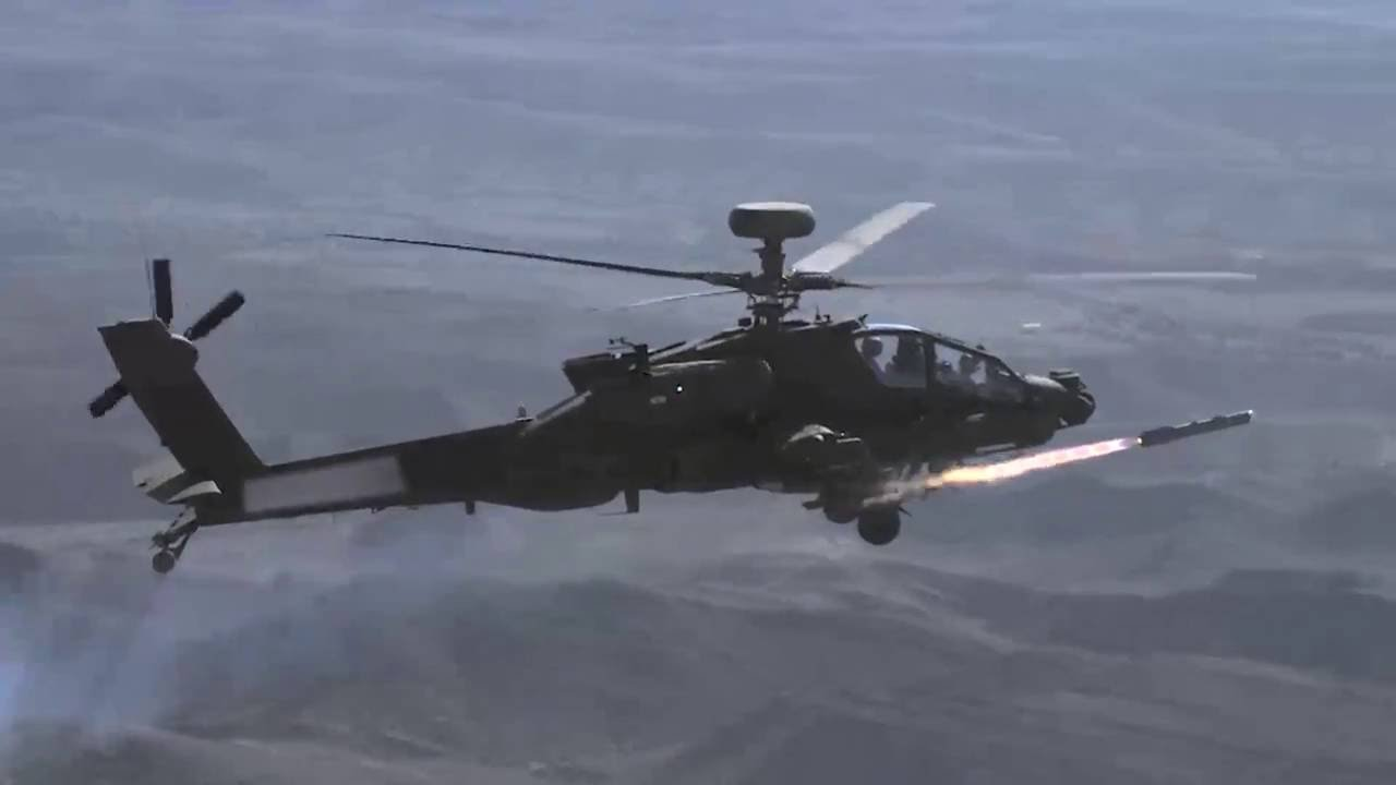 Brimstone missile on Apache AH-64E