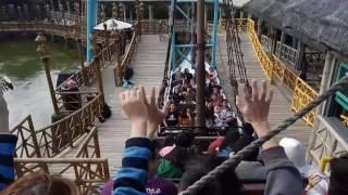 台灣新竹關西六福村-七層樓高的大海盜船:紅米 Note 4 錄影 ^^