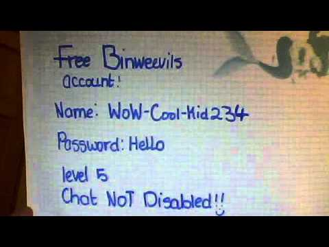 free binweevils accounts - YouTube