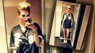 Miley Cyrus Pantless Chicago Sports Fan