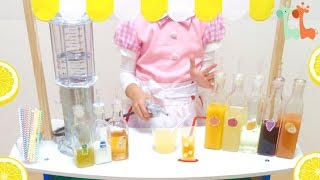 ジュース屋さん お店屋さんごっこ / Juice Bar for Kids : Blended Fruits and Soda
