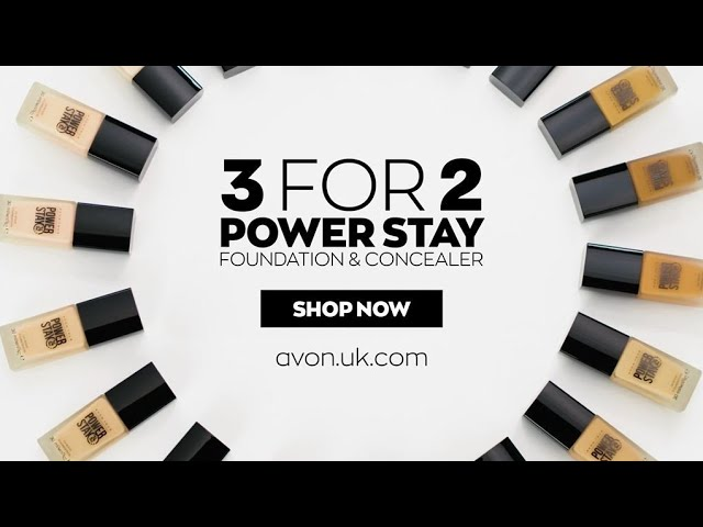 3 for 2 on Power Stay foundation and concealer | AVON