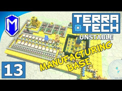 TerraTech - New Manufacturing Base, Crafting Blocks - Lets Play TerraTech Unstable Gameplay Ep 13