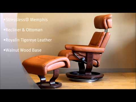 Stressless Chair Review Uk Modern Leather Office Stressless® Governor Recliner And Ottoman In Paloma Lig...   Doovi