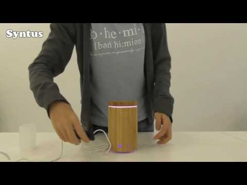 how-to-use-syntus-remote-controlled-real-bamboo-essential-oil-diffuser-|-unboxing