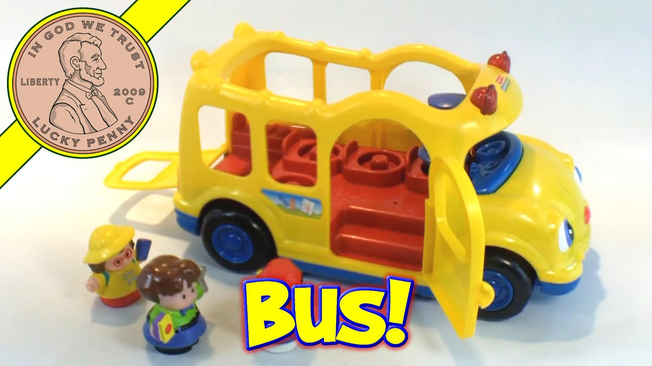 fisher price little people lil 39 movers yellow school bus. Black Bedroom Furniture Sets. Home Design Ideas