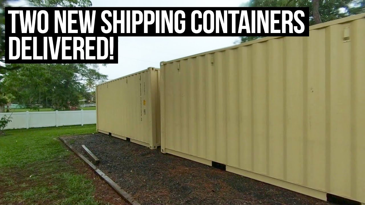 Not One, But Two 20ft Shipping Containers Delivered! | Building a SHIPPING CONTAINER HOME